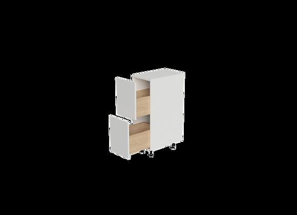 "B1236-2   12"" Wide x 36"" High - 2 Drawer Base Cabinet"