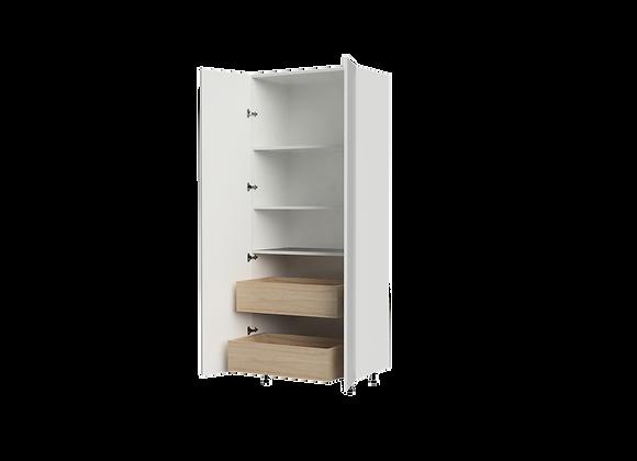 """T3284-2   32"""" Wide x 84"""" High - 2 Drawer Storage Cabinet"""