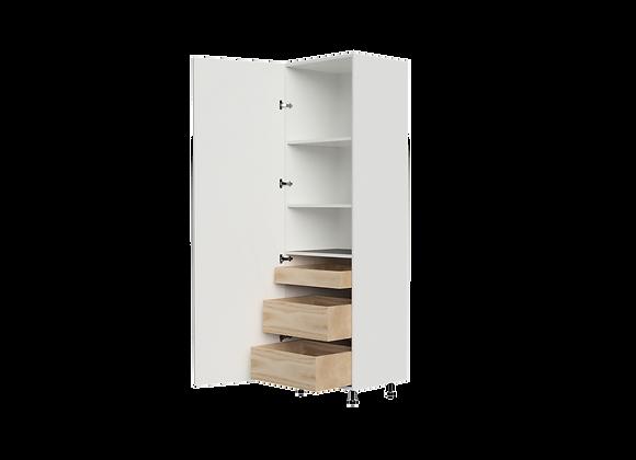 """T2484-3   24"""" Wide x 84"""" High - 3 Drawer Storage Cabinet"""