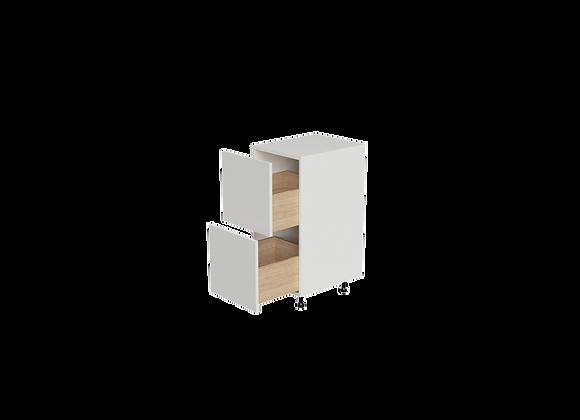 "B1636-2 | 16"" Wide x 36"" High - 2 Drawer Base Cabinet"