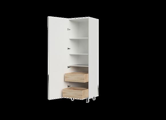 """T2484-2   24"""" Wide x 84"""" High - 2 Drawer Storage Cabinet"""