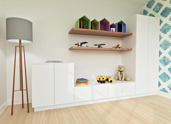 Modern Kids Room Storage