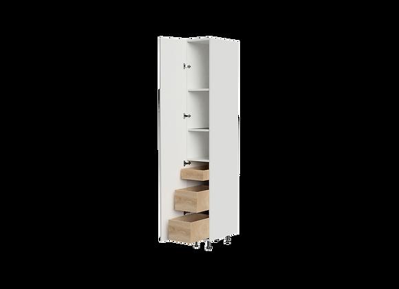 """T1284-3   12"""" Wide x 84"""" High - 3 Drawer Storage Cabinet"""