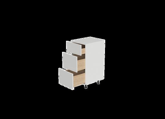 "B1236-3   12"" Wide x 36"" High - 3 Drawer Base Cabinet"