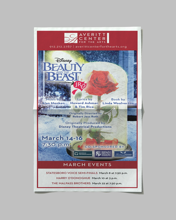 Beauty and the Beast Newspaper Ad