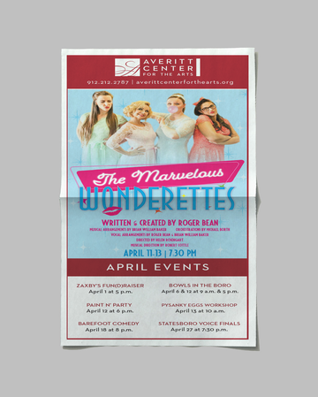 Marvelous Wonderettes Newspaper Ad