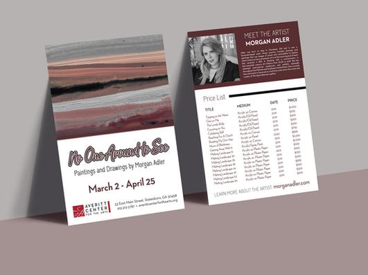 Morgan Adler Price List Card