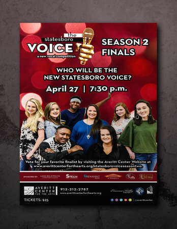 Statesboro Voice Finals Poster