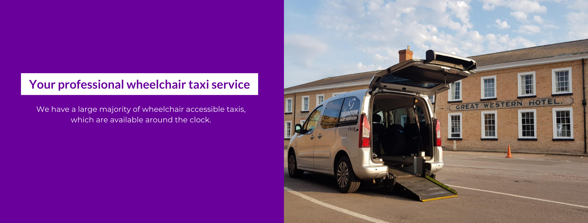 taxis in taunton, wheelchair taxis taunt