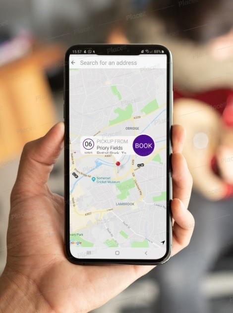 taxi booking app taunton, taxis taunton,