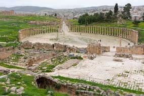 CK HAMIDI outdoorový zájezd do Jordánska: Sloupové náměstí Jerash