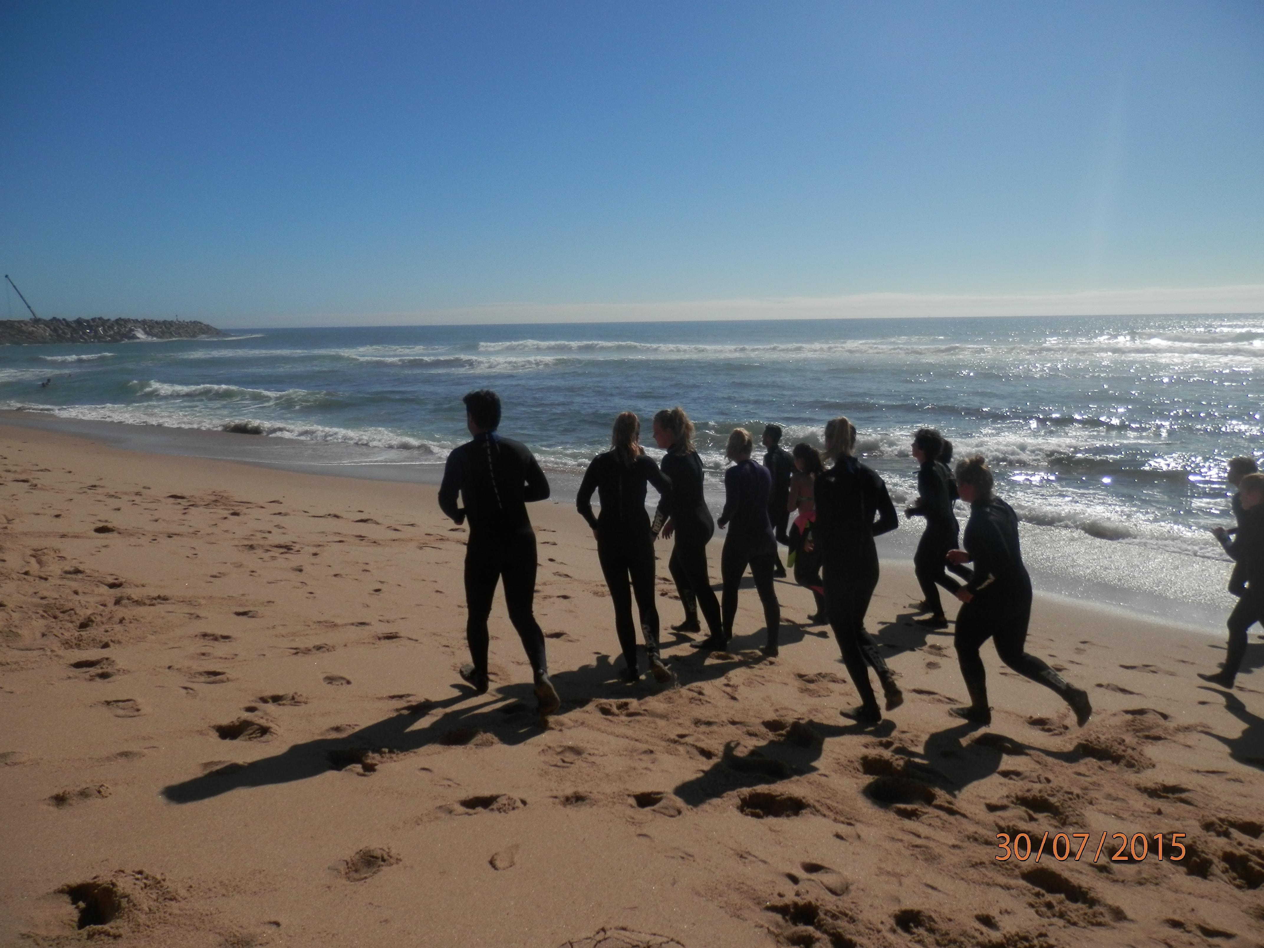 Rozcvička před surfingem
