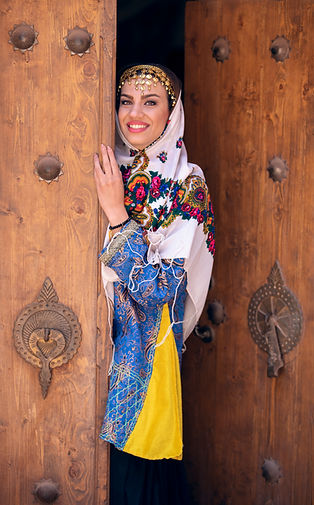 Young beautiful Iranian lady in traditio