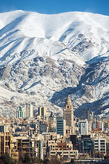 Winter Tehran  view with a snow covered