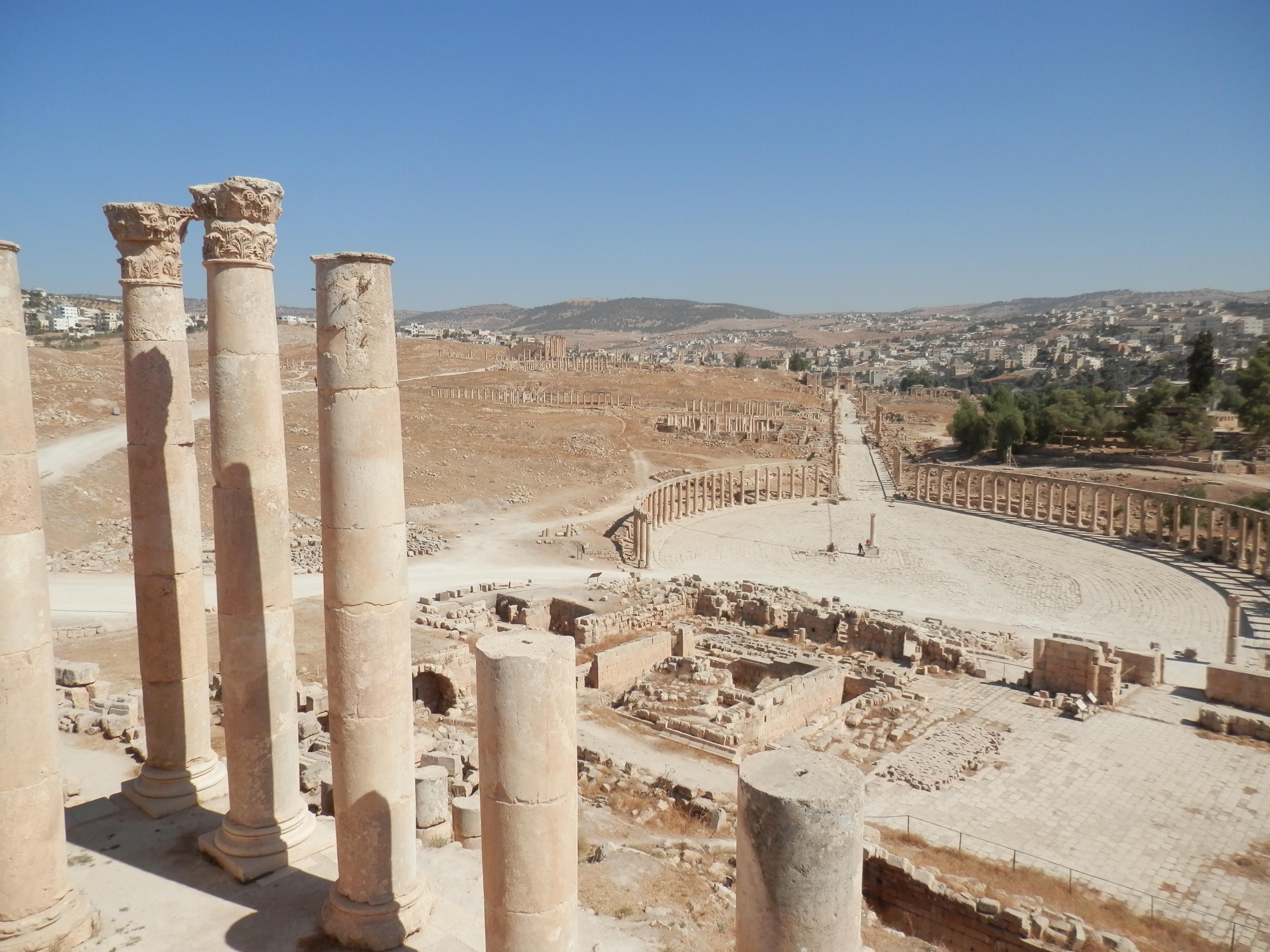Sloupoví - antické město Jerash