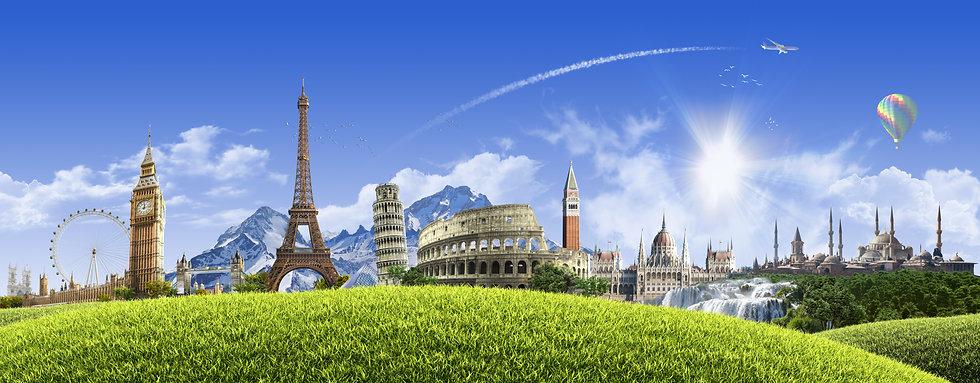 Summer travel across Europe - sunny land