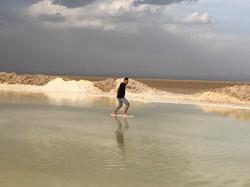 Solné jezero Varzaneh