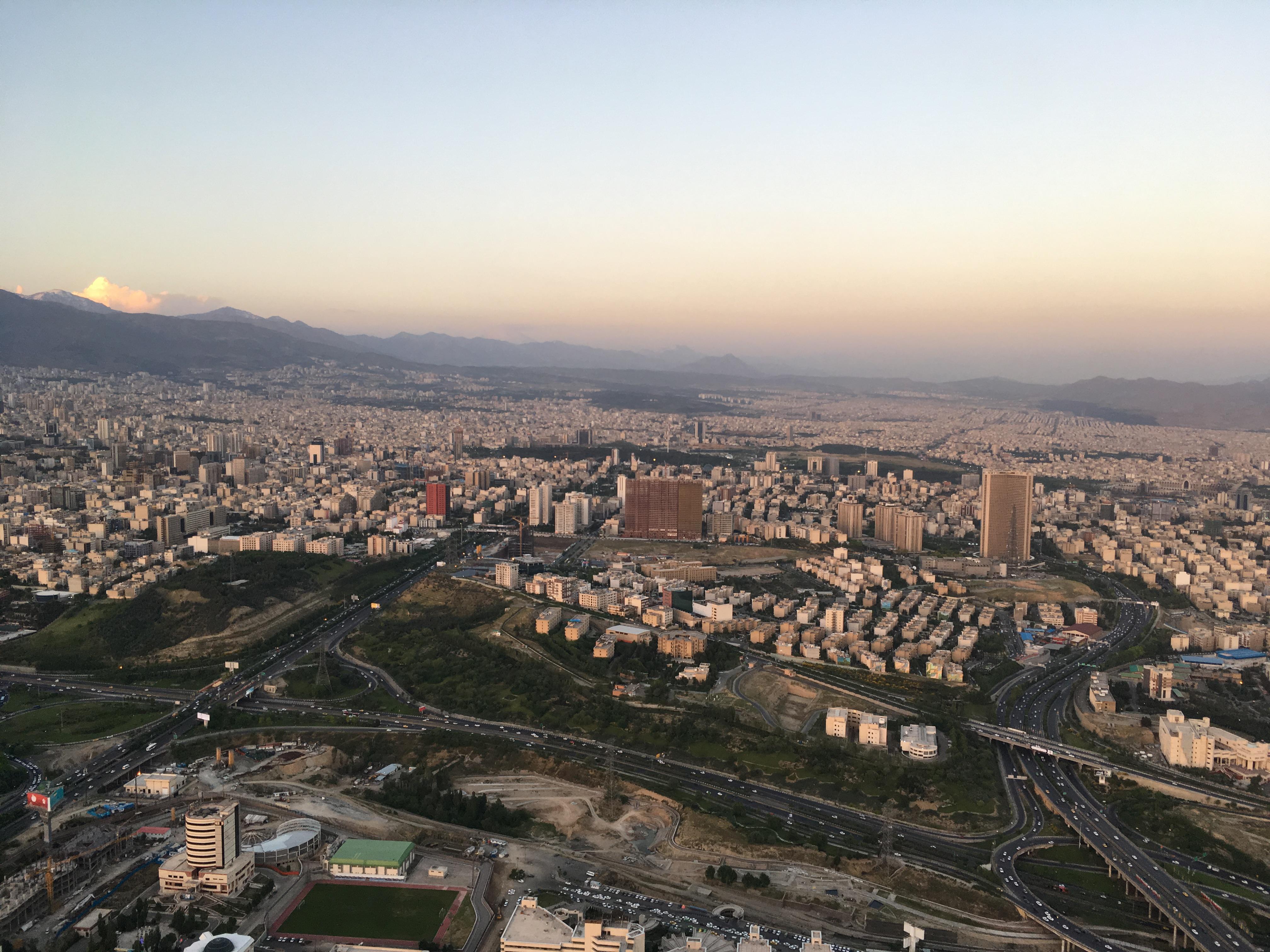 Pohled z Milad tower