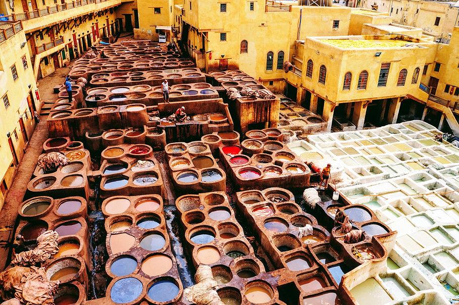 CK HAMID Poznávací zájezdy do Maroka: koželužny Fés