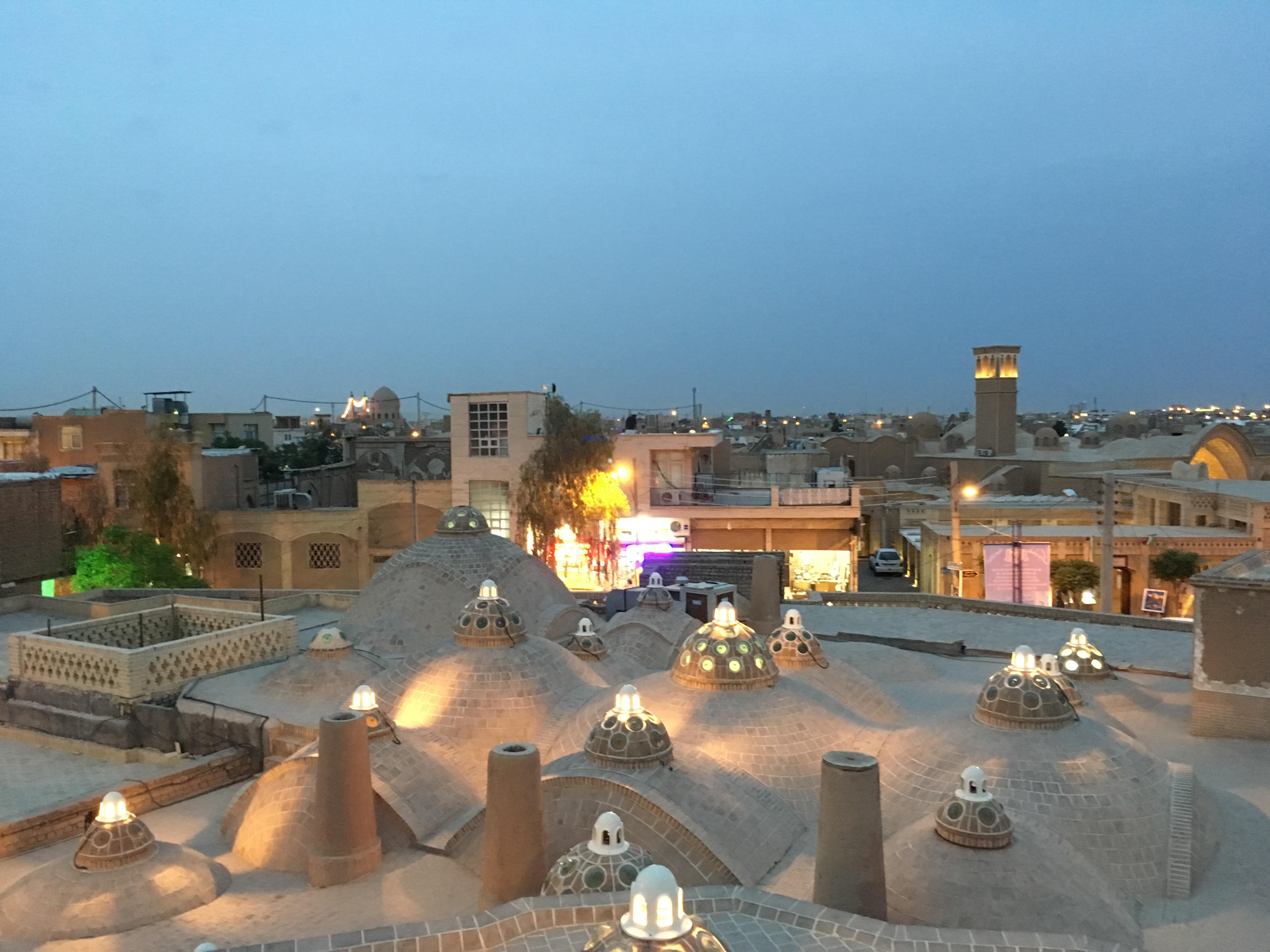 Kashan střechy