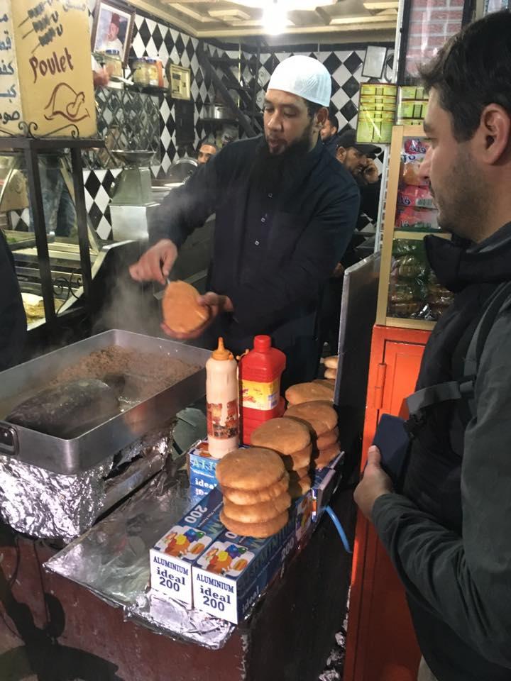 Street food v Marákéši
