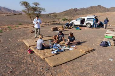 CK HAMIDI outdoorový zájezd do Jordánska: Snídaně na treku