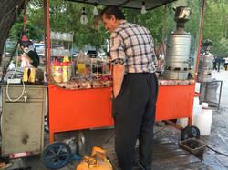 Příprava čaje a vodní dýmky