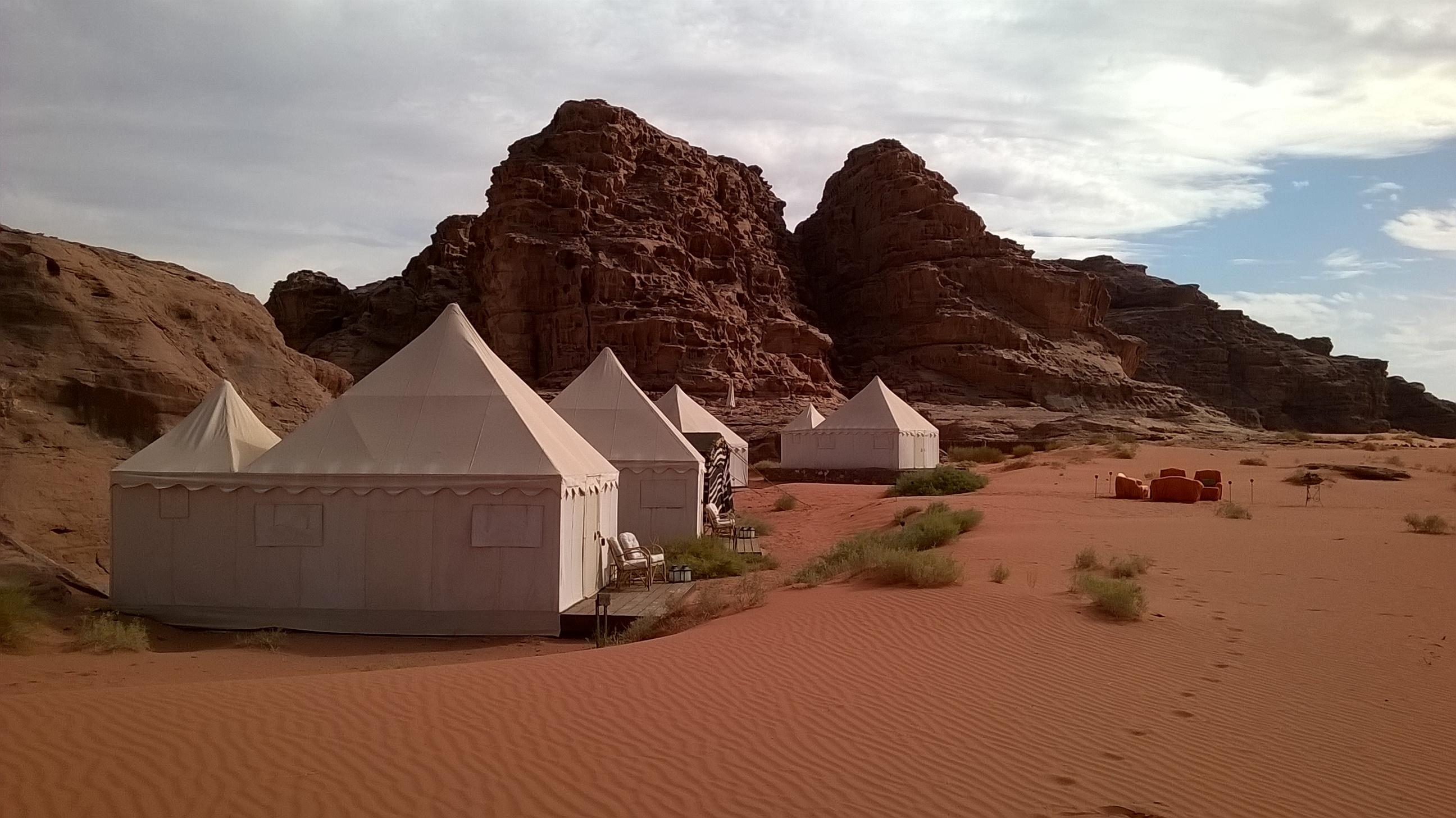 Ubytování ve Wadi Rum