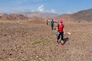 Trek na konci Wádí Dana