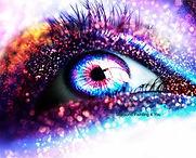 Paars oog