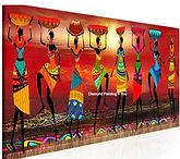 Colorfull woman dancing