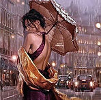 Vrouw paraplu