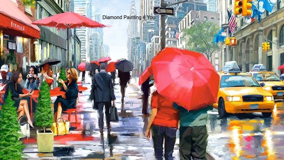 Regen straat