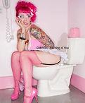 Vrouw Roze Toilet