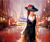 Vrouw in Parijs