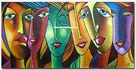 Gekleurde gezichten