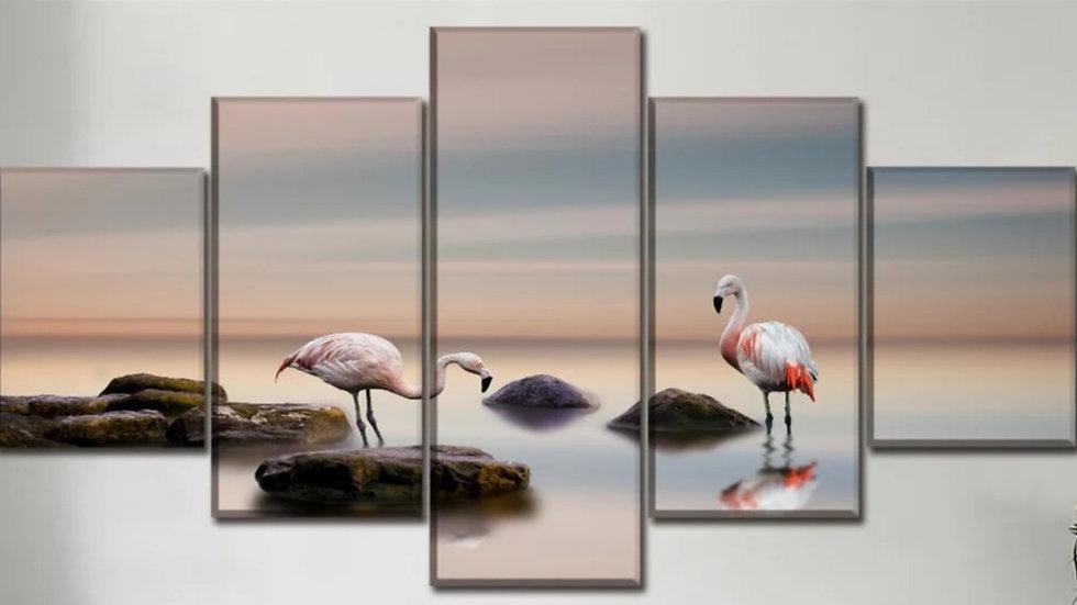 5 Luiks Flamingo's