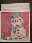 Kerst Painting voor kinderen met vierkante lijst