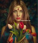 Vrouw tulpen