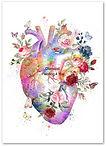 Hart met bloemen en Vlinders