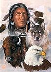 Indiaan en dieren