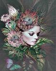 Vrouw bloemen