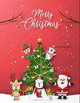 Merry Christmas rood