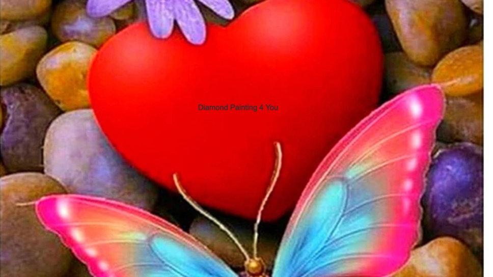 Rood hart vlinder