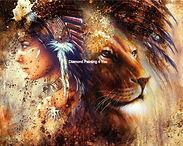 Indiaan en Leeuw