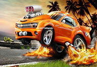 Cartoon Muscle car