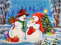 Sneeuwpop gezin
