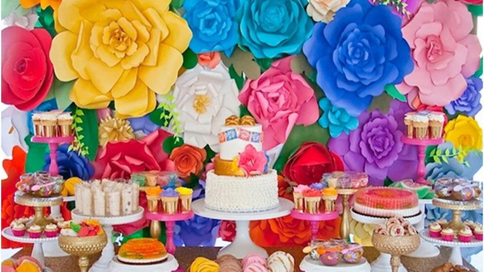 Party Cake Flowers