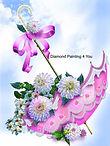 Paraplu met bloemen