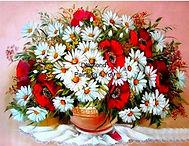 Rood/Witte Bloemen